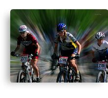 Quebec Cup Cycling Canvas Print