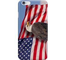 United we stand - Bald Eagle & American Flag iPhone Case/Skin