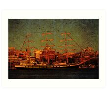 A Day in the Harbour Art Print