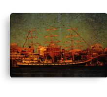 A Day in the Harbour Canvas Print