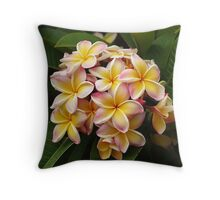 Plumeria Beauty Throw Pillow