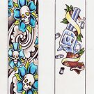 Skateboard designs by Daniel Blatchford
