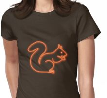 Neon squirrel hot orange Womens Fitted T-Shirt