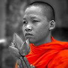 Cambodian Monk by GayeL Art