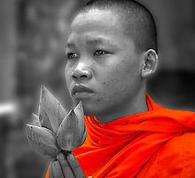 Cambodian Monk by gamaree L