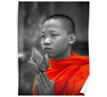 Cambodian Monk Poster