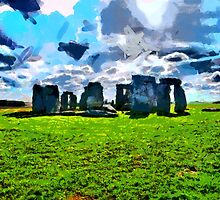 Beautiful Britain - Stonehenge, Wiltshire, England by Dennis Melling