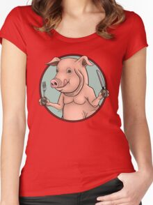 Hungry Pig Women's Fitted Scoop T-Shirt