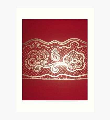 Red and Gold Art Print