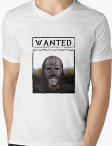 Wanted: The Gray Fox Mens V-Neck T-Shirt