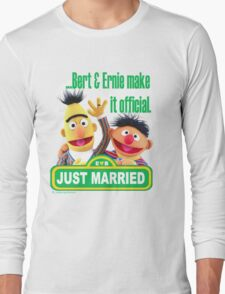 Bert & Ernie - Just Married Long Sleeve T-Shirt