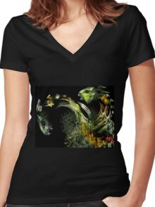Paper Dragons Women's Fitted V-Neck T-Shirt
