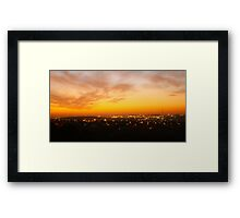 Sunset In Johanesburg  Framed Print