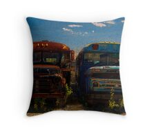 Old School Chums Throw Pillow