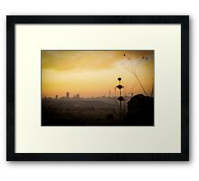 Just over there Framed Print