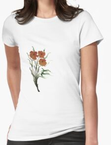 Eloquent Bloom - Floral Womens Fitted T-Shirt