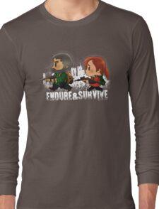 Chibi Joel and Ellie Long Sleeve T-Shirt