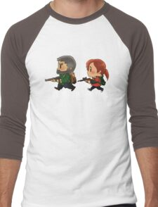 Chibi Joel and Ellie Men's Baseball ¾ T-Shirt