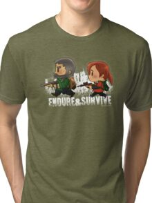 Chibi Joel and Ellie Tri-blend T-Shirt
