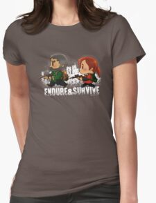 Chibi Joel and Ellie Womens Fitted T-Shirt