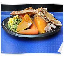 Roast Pork & Veges Poster