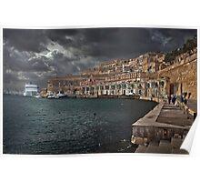 Jetty Valletta, Malta  Poster