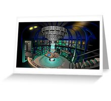 TARDIS Interior - Doctor Who Greeting Card