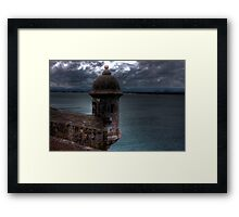 Watching the clouds Framed Print