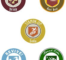 Call Of Duty Zombies- Perk A Cola Label Stickers by omgitsdex