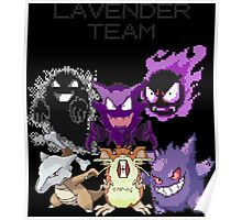 Pokemon - Lavender Town Team  Poster