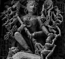 Goddess Durga - Killing of Mahisha-asur by Biren Brahmbhatt