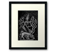 Goddess Durga - Killing of Mahisha-asur Framed Print