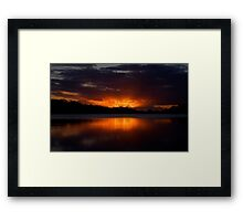 Embers of Day - Narrabeen Lakes, Sydney - The HDR Experience Framed Print