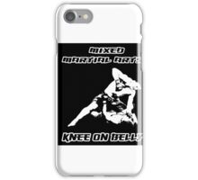 Mixed Martial Arts Knee On Belly Black  iPhone Case/Skin