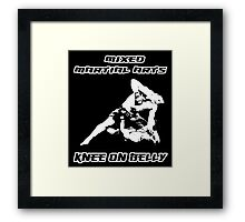 Mixed Martial Arts Knee On Belly Black  Framed Print