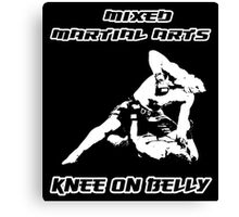 Mixed Martial Arts Knee On Belly Black  Canvas Print