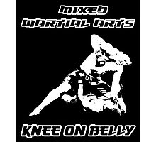 Mixed Martial Arts Knee On Belly Black  Photographic Print