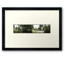 The Rookery sign/Tennis courts -(120811)- digital photo Framed Print