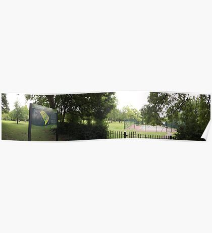 The Rookery sign/Tennis courts -(120811)- digital photo Poster