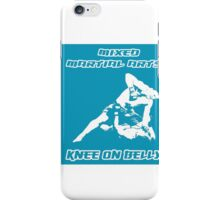 Mixed Martial Arts Knee On Belly Blue  iPhone Case/Skin