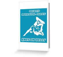 Mixed Martial Arts Knee On Belly Blue  Greeting Card