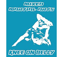 Mixed Martial Arts Knee On Belly Blue  Photographic Print