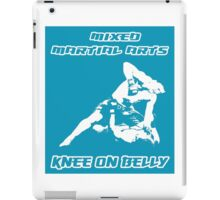 Mixed Martial Arts Knee On Belly Blue  iPad Case/Skin