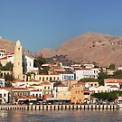 Chalki Harbour Front by Tom Gomez