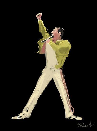 Freddie Mercury by Nigel Silcock