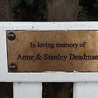 Plaque: In loving memory of... -(120811)- digital photo by paulramnora