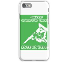 Mixed Martial Arts Knee On Belly Green  iPhone Case/Skin