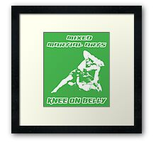 Mixed Martial Arts Knee On Belly Green  Framed Print