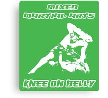 Mixed Martial Arts Knee On Belly Green  Canvas Print