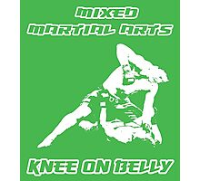 Mixed Martial Arts Knee On Belly Green  Photographic Print